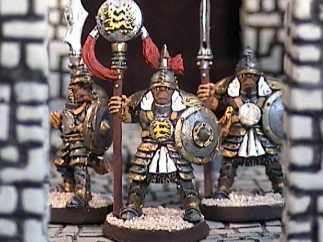 Assualt Warriors with banner carrier