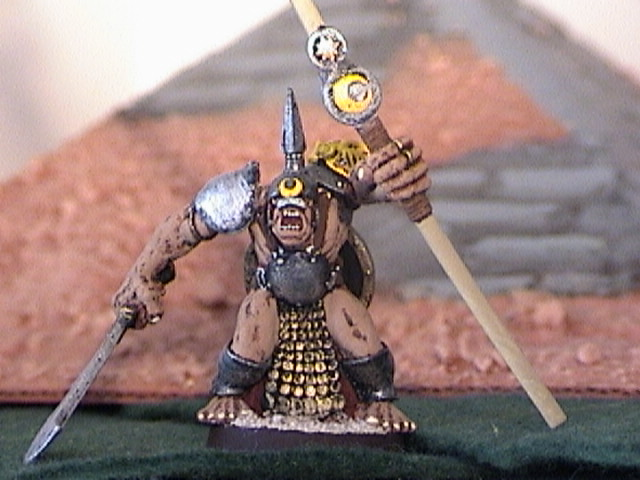Ogre Heavy Infantry Standard Bearer, a bad, BAD mother.....