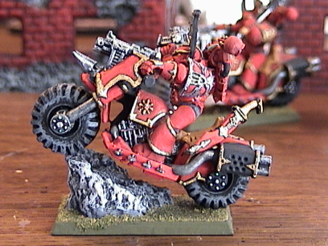 Khorne biker doing his thing